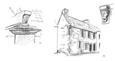 La maison à l'angle de la rue Aristide Briand