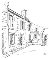 Dessin de la maison du dîmeur au 1 de la rue Aristide Briand