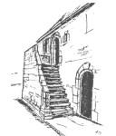 Un dessin de la demeure du XVII siècle (cliquer pour voir en grand)