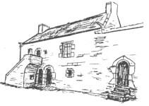 Un dessin de la demeure du XVI siècle (cliquer pour voir en grand)