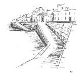 Un dessin du vieux mur de pierres(cliquer pour voir en grand)