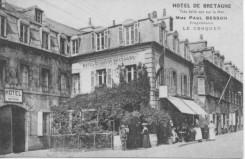 L'hôtel de Bretagne en 1900